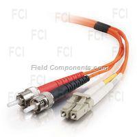 2m LC/ST Duplex 50/125 Multimode Fiber Patch Cable - Orange
