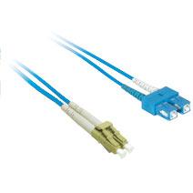 5m LC/SC Duplex 9/125 Single Mode Fiber Patch Cable - Blue