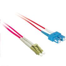 2m LC/SC Duplex 9/125 Single Mode Fiber Patch Cable - Red