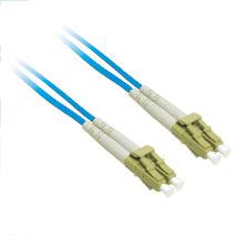 2m LC/LC Duplex 9/125 Single Mode Fiber Patch Cable - Blue