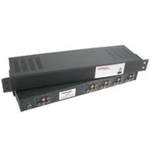4-Output Component Video + Stereo Audio Distribution Amplifier - 1RU
