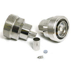 7/16 Female Jack for LMR240, LMR-240 UltraFlex RG8X Crimp 50ohm DC-8GHz Brass Nickel Connector