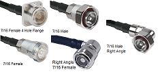 7/16 Din RG-400 M17/128 Cable Assemblies