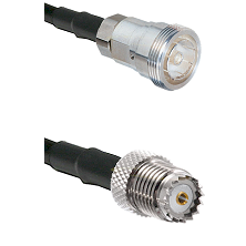 7/16 Din Female on LMR195 to Mini-UHF Female Cable Assembly
