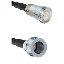 7/16 Din Female on LMR-195-UF UltraFlex to QN Male Cable Assembly