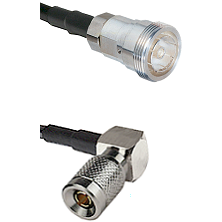 7/16 Din Female on LMR-195-UF UltraFlex to 10/23 Right Angle Male Cable Assembly