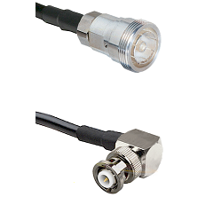 7/16 Din Female on LMR-195-UF UltraFlex to MHV Right Angle Male Cable Assembly