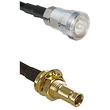 7/16 Din Female on LMR200 UltraFlex to 10/23 Female Bulkhead Cable Assembly