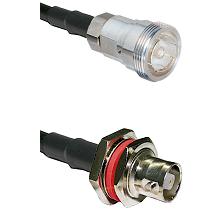 7/16 Din Female on LMR200 UltraFlex to C Female Bulkhead Cable Assembly
