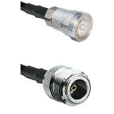 7/16 Din Female on LMR200 UltraFlex to N Female Cable Assembly