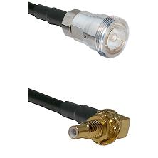 7/16 Din Female on LMR200 UltraFlex to SSLB Male Bulkhead Cable Assembly