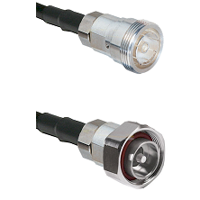 7/16 Din Female Connector On LMR-240UF UltraFlex To 7/16 Din Male Connector Cable Assembly
