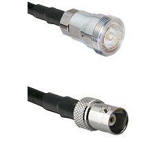 7/16 Din Female Connector On LMR-240UF UltraFlex To BNC Female Connector Cable Assembly