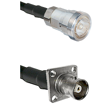 7/16 Din Female Connector On LMR-240UF UltraFlex To C 4 Hole Female Connector Cable Assembly