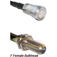 7/16 Din Female Connector On LMR-240UF UltraFlex To F Female Bulkhead Connector Coaxial Cable Assemb