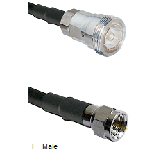 7/16 Din Female Connector On LMR-240UF UltraFlex To F Male Connector Cable Assembly