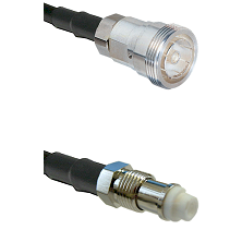 7/16 Din Female Connector On LMR-240UF UltraFlex To FME Female Connector Cable Assembly