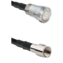 7/16 Din Female Connector On LMR-240UF UltraFlex To FME Male Connector Cable Assembly