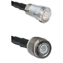 7/16 Din Female Connector On LMR-240UF UltraFlex To HN Male Connector Cable Assembly