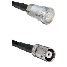 7/16 Din Female Connector On LMR-240UF UltraFlex To MHV Female Connector Cable Assembly