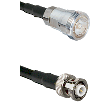 7/16 Din Female Connector On LMR-240UF UltraFlex To MHV Male Connector Cable Assembly