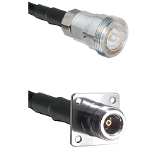 7/16 Din Female Connector On LMR-240UF UltraFlex To N 4 Hole Female Connector Cable Assembly