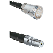 7/16 Din Female Connector On LMR-240UF UltraFlex To QMA Female Connector Cable Assembly