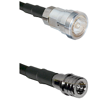 7/16 Din Female Connector On LMR-240UF UltraFlex To QMA Male Connector Cable Assembly