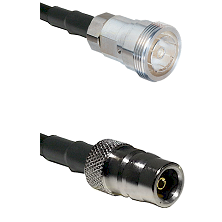 7/16 Din Female Connector On LMR-240UF UltraFlex To QN Female Connector Cable Assembly