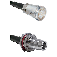 7/16 Din Female Connector On LMR-240UF UltraFlex To QN Female Bulkhead Connector Coaxial Cable Assem