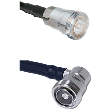 7/16 Din Female Connector On LMR-240UF UltraFlex To 7/16 Din Right Angle Female Connector Coaxial Ca