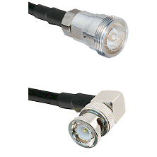 7/16 Din Female Connector On LMR-240UF UltraFlex To BNC Right Angle Male Connector Coaxial Cable Ass