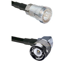 7/16 Din Female Connector On LMR-240UF UltraFlex To C Right Angle Male Connector Coaxial Cable Assem