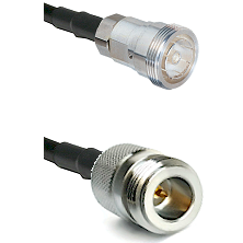 7/16 Din Female Connector On LMR-240UF UltraFlex To N Reverse Polarity Female Connector Coaxial Cabl
