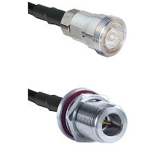7/16 Din Female Connector On LMR-240UF UltraFlex To N Reverse Polarity Female Bulkhead Connector Coa