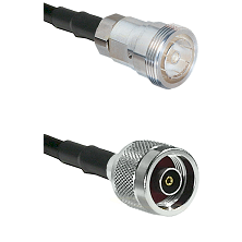 7/16 Din Female Connector On LMR-240UF UltraFlex To N Reverse Polarity Male Connector Coaxial Cable