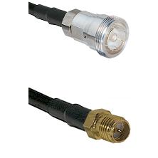 7/16 Din Female Connector On LMR-240UF UltraFlex To SMA Reverse Polarity Female Connector Coaxial Ca