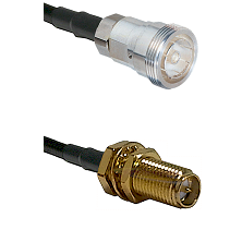 7/16 Din Female Connector On LMR-240UF UltraFlex To SMA Reverse Polarity Female Bulkhead Connector C