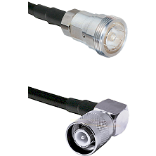 7/16 Din Female Connector On LMR-240UF UltraFlex To SC Right Angle Male Connector Coaxial Cable Asse