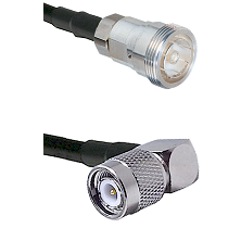 7/16 Din Female Connector On LMR-240UF UltraFlex To TNC Right Angle Male Connector Coaxial Cable Ass