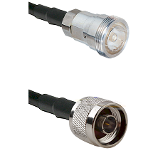 7/16 Din Female Connector On LMR-240UF UltraFlex To N Reverse Thread Male Connector Coaxial Cable As
