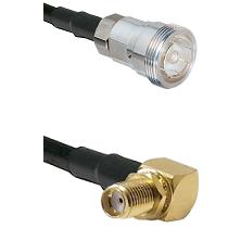 7/16 Din Female Connector On LMR-240UF UltraFlex To SMA Reverse Thread Right Angle Female Bulkhead C