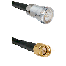 7/16 Din Female Connector On LMR-240UF UltraFlex To SMA Reverse Thread Male Connector Coaxial Cable
