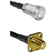 7/16 Din Female Connector On LMR-240UF UltraFlex To SMA 4 Hole Female Connector Coaxial Cable Assemb