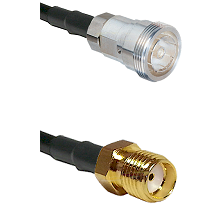 7/16 Din Female Connector On LMR-240UF UltraFlex To SMA Female Connector Cable Assembly