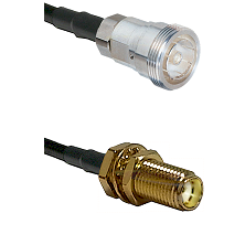 7/16 Din Female Connector On LMR-240UF UltraFlex To SMA Female Bulkhead Connector Coaxial Cable Asse