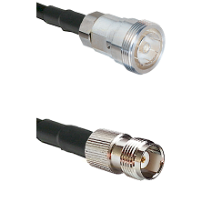 7/16 Din Female Connector On LMR-240UF UltraFlex To TNC Female Connector Cable Assembly
