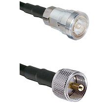 7/16 Din Female Connector On LMR-240UF UltraFlex To UHF Male Connector Cable Assembly