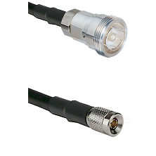 7/16 Din Female on RG142 to 10/23 Male Cable Assembly
