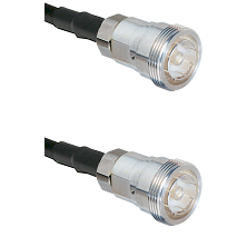7/16 Din Female on RG142 to 7/16 Din Female Cable Assembly